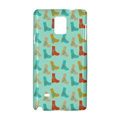 Blue Orange Boots Samsung Galaxy Note 4 Hardshell Case by snowwhitegirl