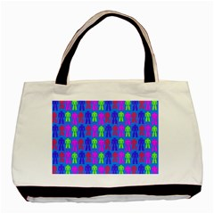 Neon Robot Basic Tote Bag by snowwhitegirl