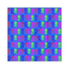 Neon Robot Acrylic Tangram Puzzle (6  X 6 ) by snowwhitegirl