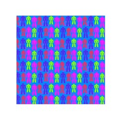 Neon Robot Small Satin Scarf (square) by snowwhitegirl