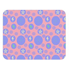 Pink Retro Dots Double Sided Flano Blanket (large)  by snowwhitegirl