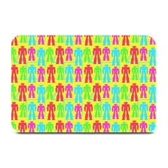 Colorful Robots Plate Mats by snowwhitegirl