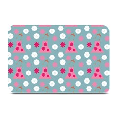Pink Dress Blue Plate Mats by snowwhitegirl
