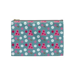 Pink Dress Blue Cosmetic Bag (medium)  by snowwhitegirl
