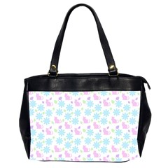 Cats And Flowers Office Handbags (2 Sides)  by snowwhitegirl