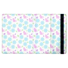 Cats And Flowers Apple Ipad 2 Flip Case by snowwhitegirl