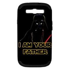 Darth Vader Cat Samsung Galaxy S Iii Hardshell Case (pc+silicone) by Valentinaart