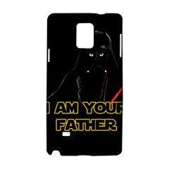 Darth Vader Cat Samsung Galaxy Note 4 Hardshell Case by Valentinaart