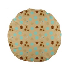 Beige Dress Standard 15  Premium Round Cushions by snowwhitegirl