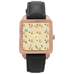 Beige Dress Rose Gold Leather Watch  by snowwhitegirl