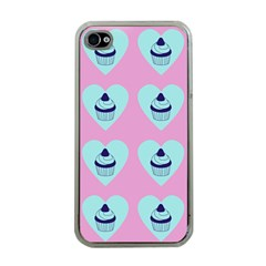 Cupcakes In Pink Apple Iphone 4 Case (clear) by snowwhitegirl