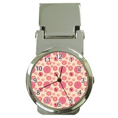 Cream Retro Dots Money Clip Watches by snowwhitegirl