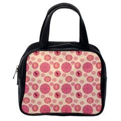 Cream Retro Dots Classic Handbags (one Side) by snowwhitegirl
