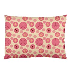 Cream Retro Dots Pillow Case (two Sides) by snowwhitegirl