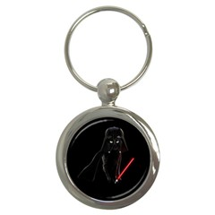 Darth Vader Cat Key Chains (round)  by Valentinaart