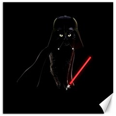 Darth Vader Cat Canvas 16  X 16   by Valentinaart