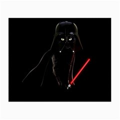 Darth Vader Cat Small Glasses Cloth (2 Side) by Valentinaart