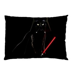 Darth Vader Cat Pillow Case by Valentinaart
