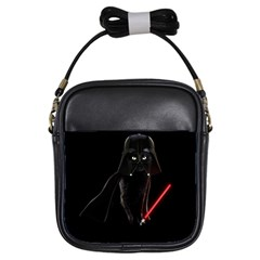 Darth Vader Cat Girls Sling Bags by Valentinaart