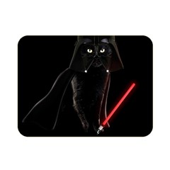 Darth Vader Cat Double Sided Flano Blanket (mini)  by Valentinaart