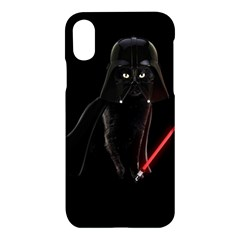 Darth Vader Cat Apple Iphone X Hardshell Case by Valentinaart
