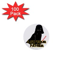 Darth Vader Cat 1  Mini Buttons (100 Pack)  by Valentinaart