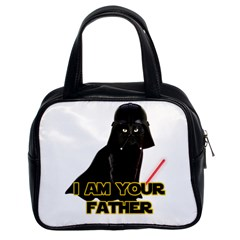 Darth Vader Cat Classic Handbags (2 Sides) by Valentinaart