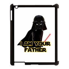 Darth Vader Cat Apple Ipad 3/4 Case (black) by Valentinaart
