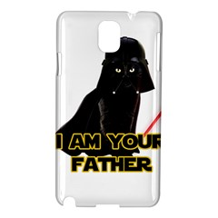 Darth Vader Cat Samsung Galaxy Note 3 N9005 Hardshell Case by Valentinaart
