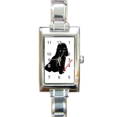 Darth Vader Cat Rectangle Italian Charm Watch by Valentinaart