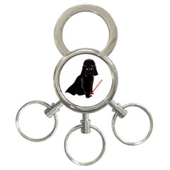 Darth Vader Cat 3 Ring Key Chains by Valentinaart