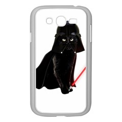 Darth Vader Cat Samsung Galaxy Grand Duos I9082 Case (white) by Valentinaart