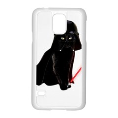 Darth Vader Cat Samsung Galaxy S5 Case (white) by Valentinaart