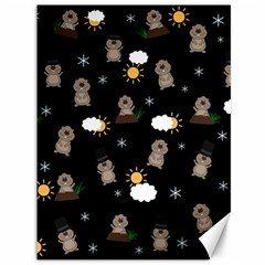 Groundhog Day Pattern Canvas 36  X 48   by Valentinaart