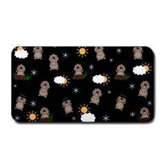 Groundhog Day Pattern Medium Bar Mats by Valentinaart