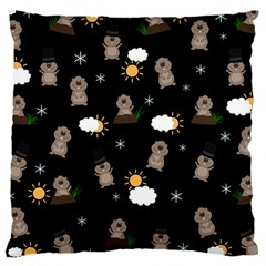 Groundhog Day Pattern Large Cushion Case (two Sides) by Valentinaart
