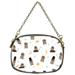 Groundhog Day Pattern Chain Purses (one Side)  by Valentinaart