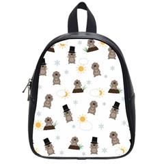 Groundhog Day Pattern School Bag (small) by Valentinaart