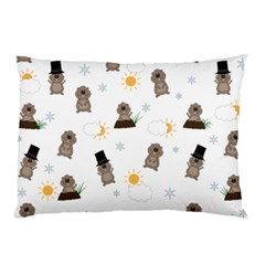 Groundhog Day Pattern Pillow Case (two Sides) by Valentinaart