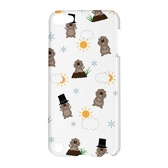 Groundhog Day Pattern Apple Ipod Touch 5 Hardshell Case by Valentinaart