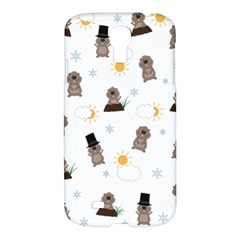 Groundhog Day Pattern Samsung Galaxy S4 I9500/i9505 Hardshell Case by Valentinaart