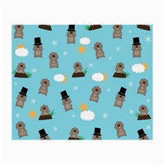 Groundhog Day Pattern Small Glasses Cloth by Valentinaart