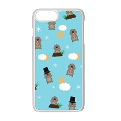 Groundhog Day Pattern Apple Iphone 8 Plus Seamless Case (white) by Valentinaart