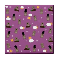 Groundhog Day Pattern Tile Coasters by Valentinaart