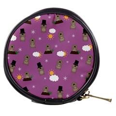 Groundhog Day Pattern Mini Makeup Bags by Valentinaart
