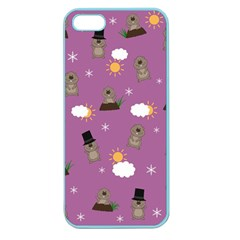 Groundhog Day Pattern Apple Seamless Iphone 5 Case (color) by Valentinaart