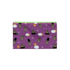 Groundhog Day Pattern Cosmetic Bag (xs) by Valentinaart