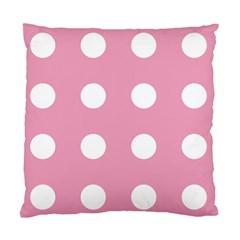 Pale Pink Dot Standard Cushion Case (one Side) by snowwhitegirl