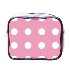 Pale Pink Dot Mini Toiletries Bags by snowwhitegirl