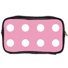 Pale Pink Dot Toiletries Bags 2 Side by snowwhitegirl